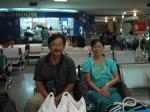 NW and P at Mingalardon airport departure lounge