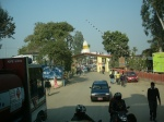 looking back at the Nepal-India border