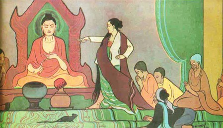 Cinca Manavika making a false accusation against Buddha