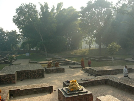 The Jetavana monastery in Sravasti of Kosala Kingdom