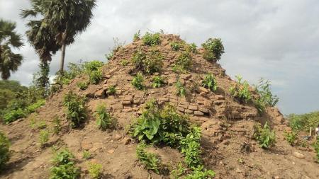 Old stupa near the ancient burial site