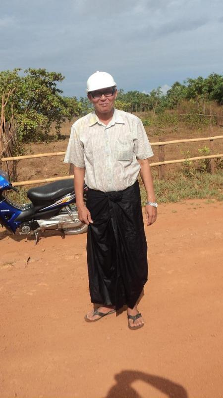 Our classmate friend Dr. Kyaw Min of Dawei who made our visit to the Thargara ancient Pyu city possible. He, like us was drenched by the Thingyan water