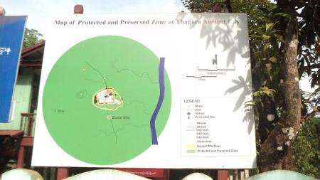 Map of Protected and Preserved Zone at Thagara Ancient City