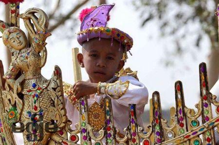 Sagaing Myaung tsp noviciation ceremony, Myaung tsp, Sagaing 13