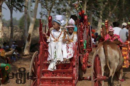 Sagaing Myaung tsp noviciation ceremony, Myaung tsp, Sagaing 15