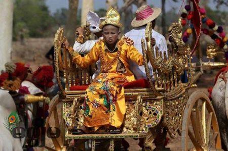 Sagaing Myaung tsp noviciation ceremony, Myaung tsp, Sagaing 16