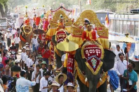 Sagaing Myaung tsp noviciation ceremony, Myaung tsp, Sagaing 29