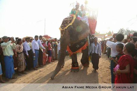 Sagaing Myaung tsp noviciation ceremony, Myaung tsp, Sagaing 6